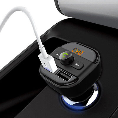 Bluetooth FM Transmitter Auto MP3 Player USB Stick KFZ SD Freisprechanlage