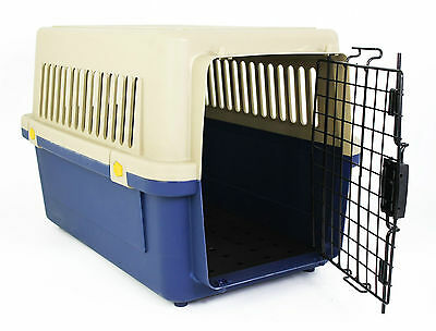 Medium Pet Travel Carrier Transport Box Cage Kennel – For Dog Puppy Cat Kitten