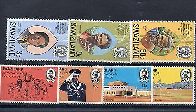 SWAZILAND  1973 SG 204 to 207 + 212 to 214 m/m