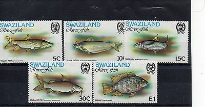 SWAZILAND 1980  SG 359 to 363 m/m