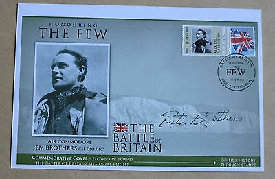 Battle Of Britain 'the Few' 2008 Cover Signed By Air Commodore Pete Brothers