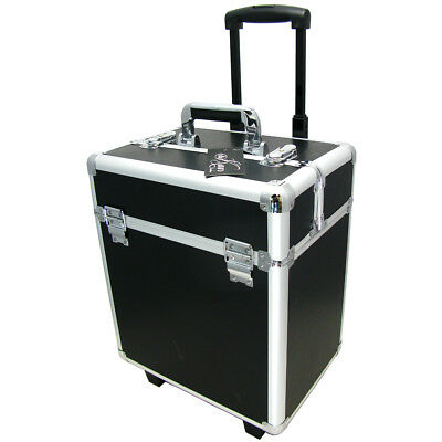 2-in-1 professional vanity case beauty hair nails make-up jewelry box trolley