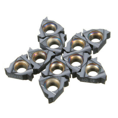 [NEW] 10pcs 11ER A60 Carbide Inserts External Thread Turning Tool Holder Inserts