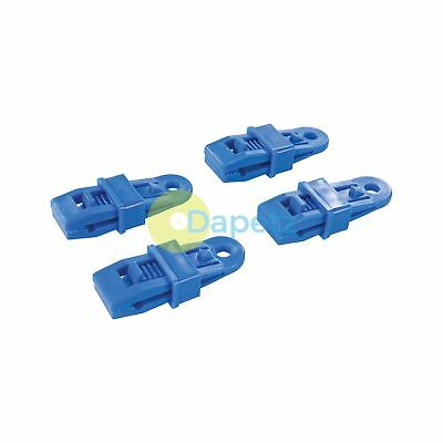 4Pk Tarpaulin Clips Plastic Eyelets Tent Camping Market Cover Durable Fastners