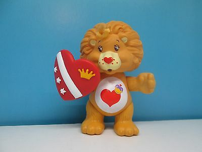 Care bears Brave Heart lion and accessory poseable figure - vintage