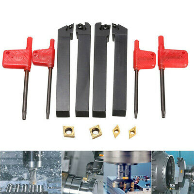 [NEW] 4pcs 12x100mm Lathe Turning Tool Holder Boring Bar For CCMT09T3 And DCMT07