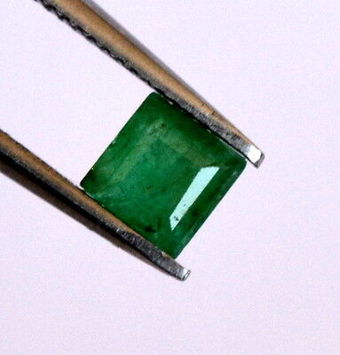 Certified Natural Emerald Square Cut 4.75 mm 0.74 CTS Untreated Loose Gemstone