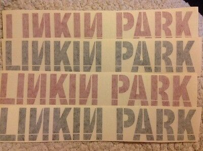 Linkin Park Band Logo 4 die cut stickers    Free Shipping