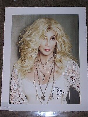 Cher Caesars Palace Blonde Hair SIGNED Lithograph 10/600 ~Rare~