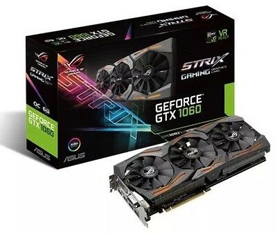 New & Sealed ASUS GeForce GTX 1060 6GB Strix Edition Boost Graphics Card