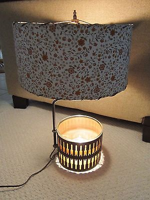Vintage Unique Mid Century Modern Lamp / Light with Shade and Bowl at Base
