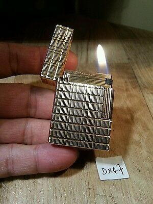 St dupont lighter fairs 47 ~ Ligne 1 small tartan gold plated,  serviced & grte