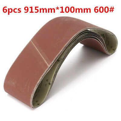 [NEW] 6pcs 915mm*100mm Alumina Sanding Belts 600 Grit Sandpaper Self Sharpening