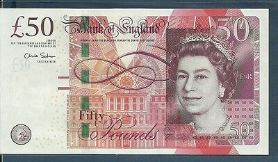 Great Britain England 50 Pounds, 2010 / 2015, P 393, Sign : Victoria, UNC