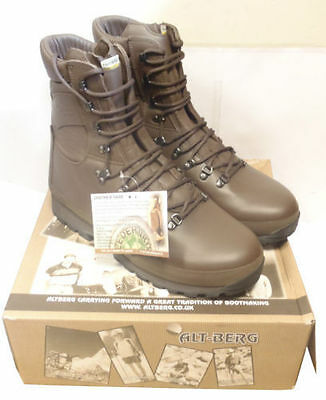 British Army Altberg Brown Combat Defender Boots - Various Good Sizes - New -