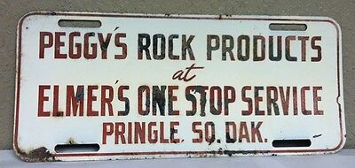 Peggy's Rock Products, Pringle, SOUTH DAKOTA License Plate Topper
