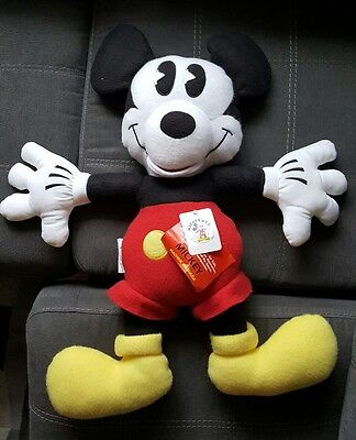 Vtg - NWT LARGE SOFT CUDDLY DISNEY MICKEY MOUSE CHARACTER PLUSH STUFFED TOY DOLL