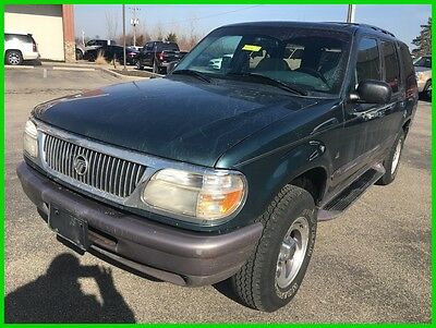 1997 Mercury Mountaineer Base Sport Utility 4-Door Used 97 Mercury Mountaineer 5L V8 Auto 4x4 SUV Green Leather Sunroof Cheap Clean