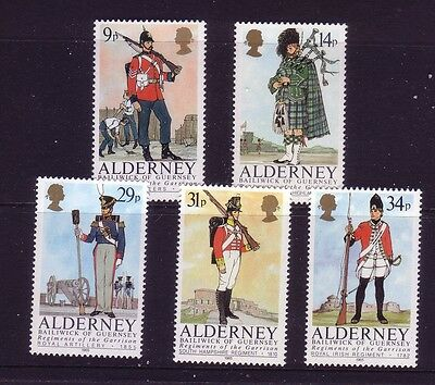 1985 Alderney. Regiments of the  Alderney Garrison SG  A23/27  MNH