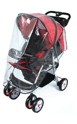 New Quality Universal Buggy Pushchair Stroller Pram Transparent Rain Cover Baby