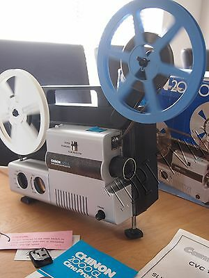 CHINON 2000GL Variable speed  SUPER 8 STD 8 CINE MOVIE FILM PROJECTOR