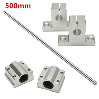[NEW] 8mm x 500mm Linear Rail Shaft Rod with Bearing Guide Support and Bearing B