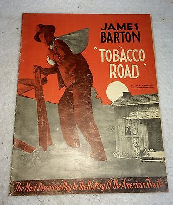 "1936 James Barton ""Tobacco Road"" Theater Booklet/Program VTG Ephemera Broadway"