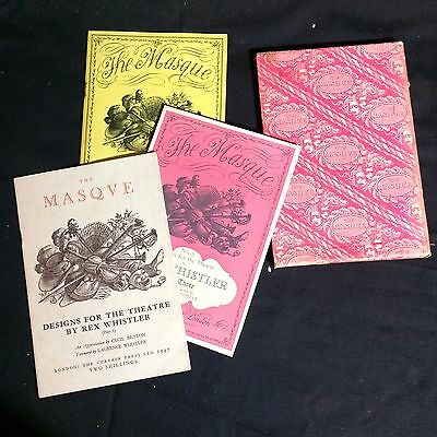 """""""The Masque"""" Set of 3 Vintage Theater Books in Slipcase 1947/1948"""
