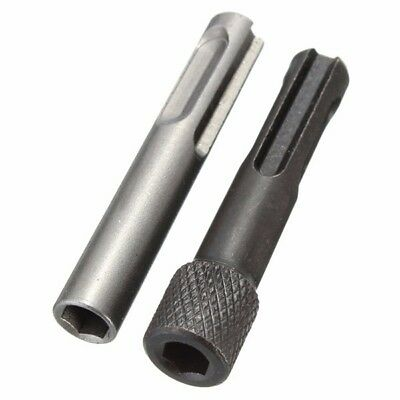 [NEW] 2pcs SDS To 1/4 Inch Hex Shank Drill Bit Adaptor Magnetic Socket Driver Co
