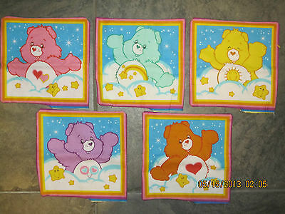Carebear Care Bear Unstuffed Pillows All Five Very Cute
