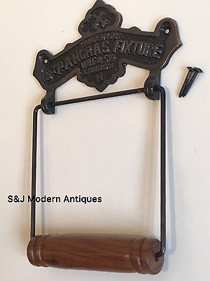 Toilet Roll Holder Copper Vintage Novelty Unusual St Pancras Antique Iron Bronze