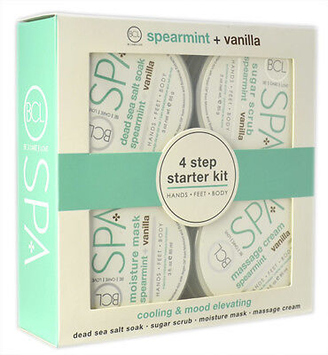4PC BCL Spearmint + Vanilla Spa Starter Kit (4 X 85ml Pots)