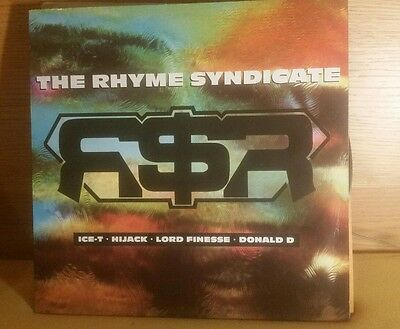 Various Artists - The Rhyme Syndicate - Vinyl LP rare hip hop hijack lord finess