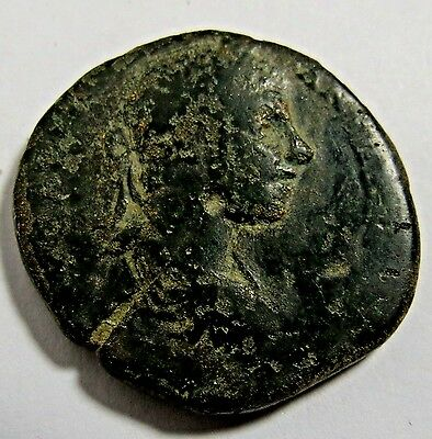 Ancient 180 Ad Greek- Roman Bronze Coin Found In Macedon 25Mm