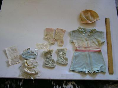 Vintage 1900's Little Boys KNIT outfit with Cap and booties GERMANY 3-6 months