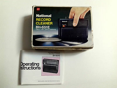 Box Only +Manual National Record Cleaner Bh-651E Solo Caja Y Manual Made In Japa