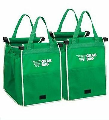 As Seen On Tv Clip-To-Cart Reusable Grocery Shopping Storage Eco 2 Grab Bag NEW!