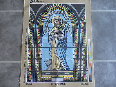 Canvas Tapestry Needlepoint Printed Embroidery Gobelin Seg Ste Colombe New