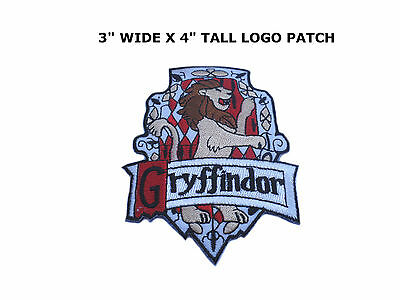 HARRY POTTER House Of Gryffindor Large Crest Logo New Embroidered Iron On  Patch