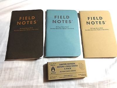 Field Notes Nixon Limited Edition Special Edition New  Memo Notebooks