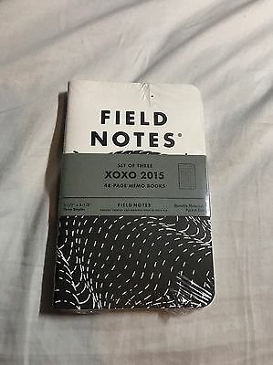 Field Notes XOXO 2015 New Sealed Memo Notebooks