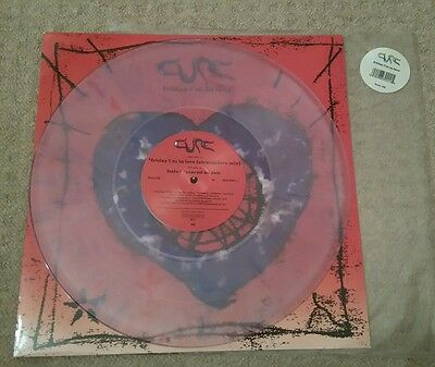 "THE CURE -Friday I'm In Love- Rare UK Blue/Pink Marbled Vinyl 12"" + Pic sleeve"