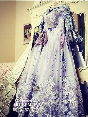 """""""Wedding Dress No More,"""" Art,Hand Dyed, Painted,Wearable ART, Costume, Fairytale"""