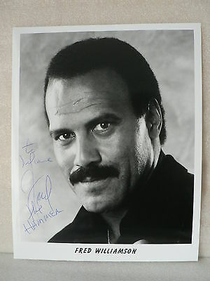 FRED WILLIAMSON American Actor ORIGINAL AUTOGRAPH  SIGNED PHOTO 8 X 10