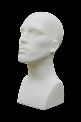 2 Pcs Abstract Male mannequin head Light weight style Display #PS-M-WH-2pcs