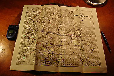 1919 Antique SAWYER COUNTY WISCONSIN  MAP