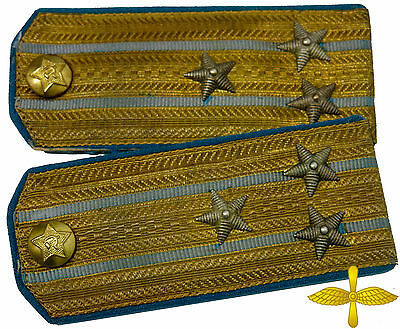 M49 RARE Early type Soviet Air Force Officer's Shoulder Boards Red Army