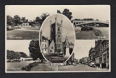 """READING"" Multi View Postcard Berkshire"