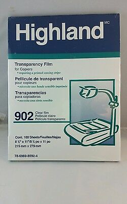 1 Pack Highland Transparency Film 100 Sheets, New and Unopened pack