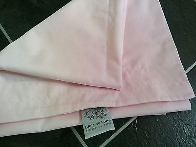 BNWOT cot bed/moses basket/crib nursery baby pink canopy